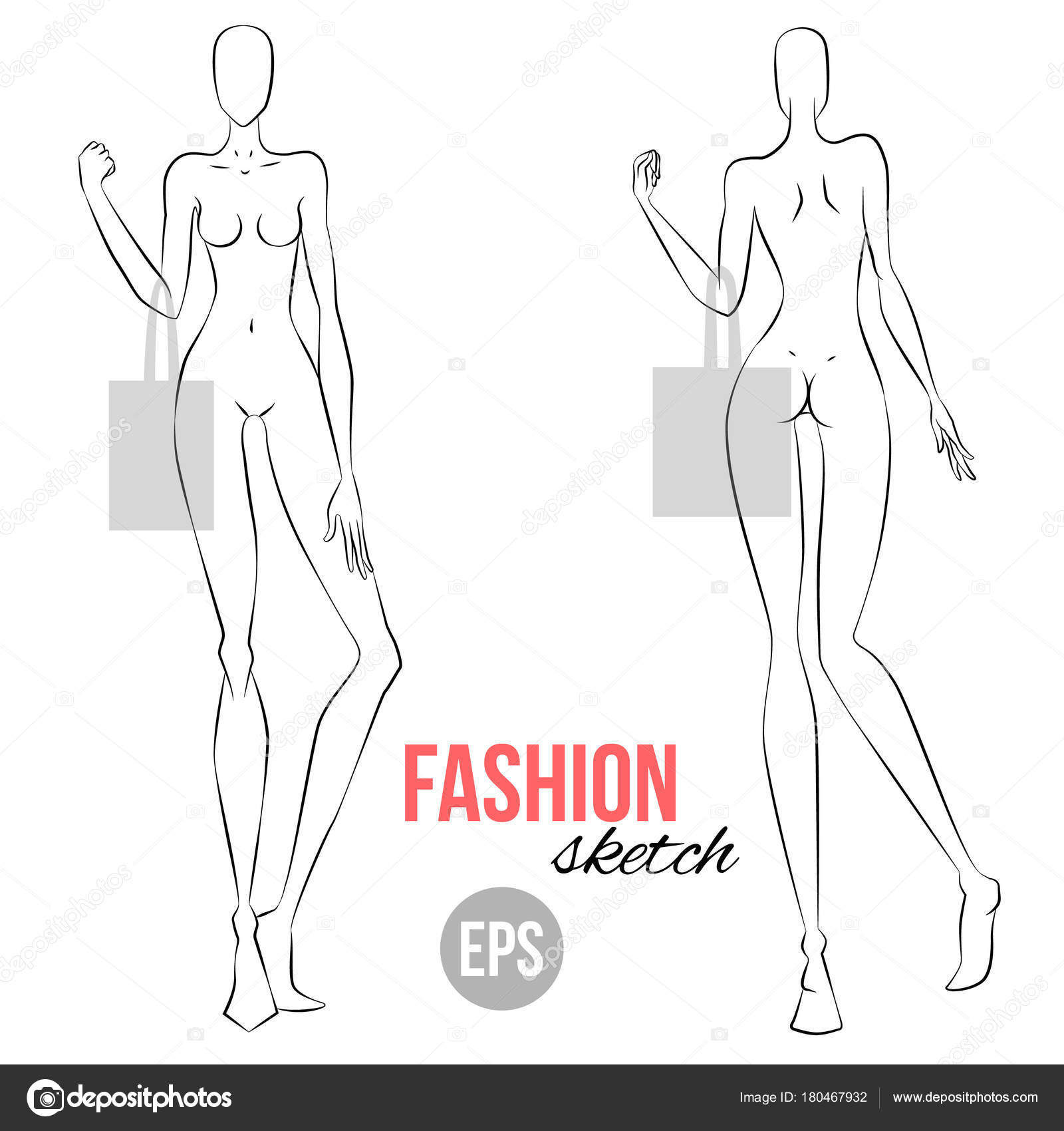 Women Figure Sketch Different Poses Template Drawing Stylist
