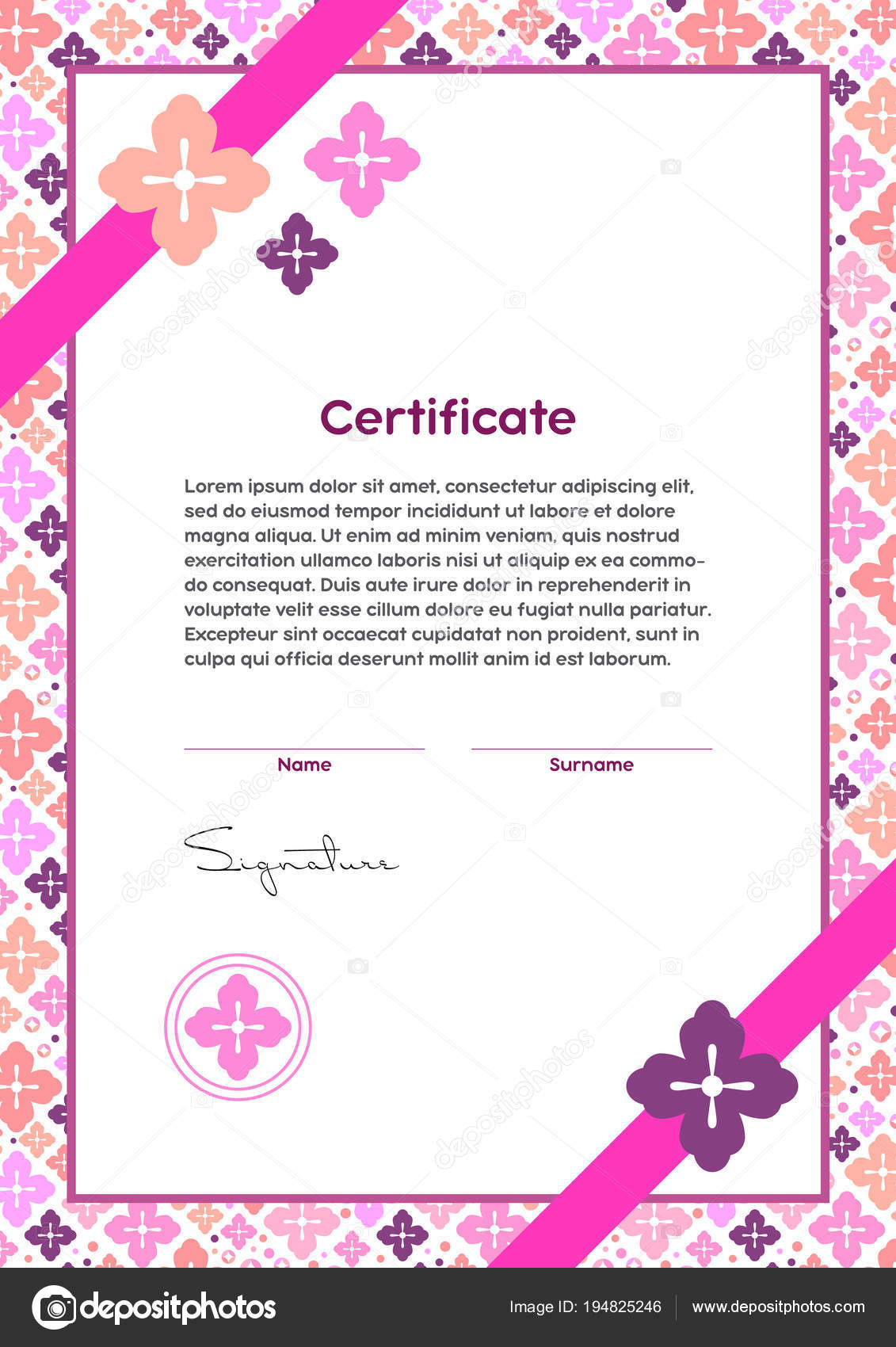 Vector certificate template japanese modern style beauty salon yoga vector certificate template japanese modern style beauty salon yoga spa stock vector yadclub Image collections