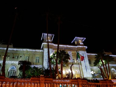 the sanremo casino during the nights of the Italian song festival