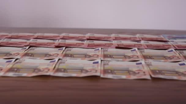 Many 50 Euros on Table