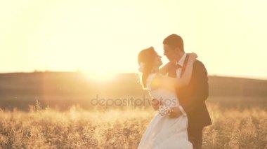 Romantic Couple Walks