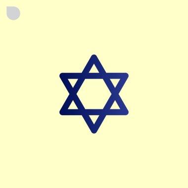 Jewish David star icon