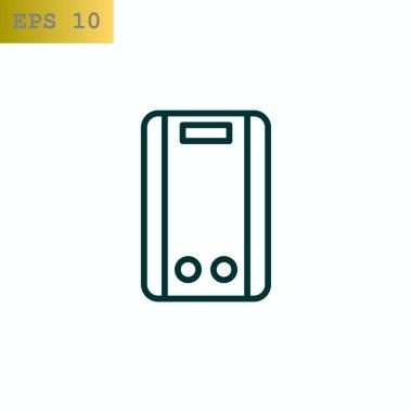 Calorifier web icon, vector illustration clip art vector
