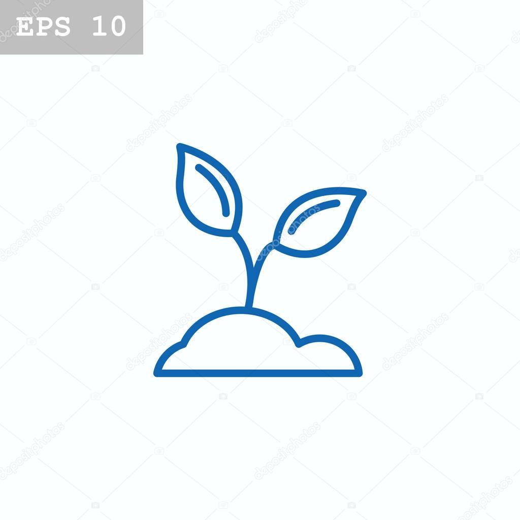 Pflanzen im Boden-Symbol — Stockvektor © Mr.Webicon #129104956
