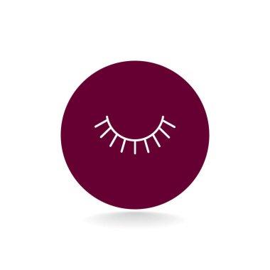eyelash flat style icon