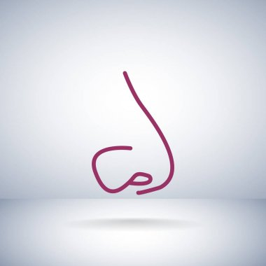 Human nose flat icon