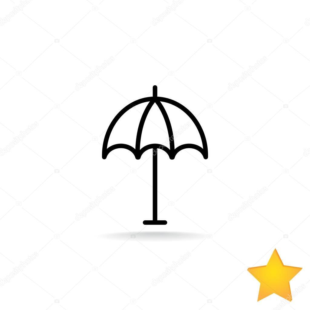 umbrella, parasol icon