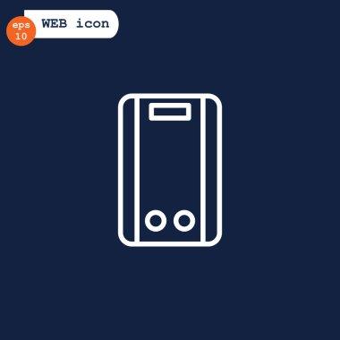 Water boiler icon, vector illustration clip art vector