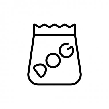 Dog food  simple icon