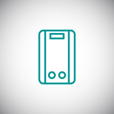 Boiler simple icon, vector illustration clip art vector