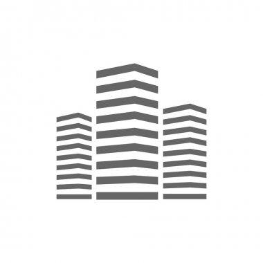 Simple skyscrapers icon