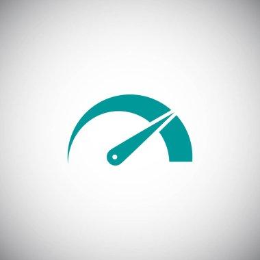speedometer flat style icon