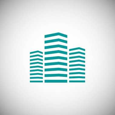 Simple skyscrapers icon