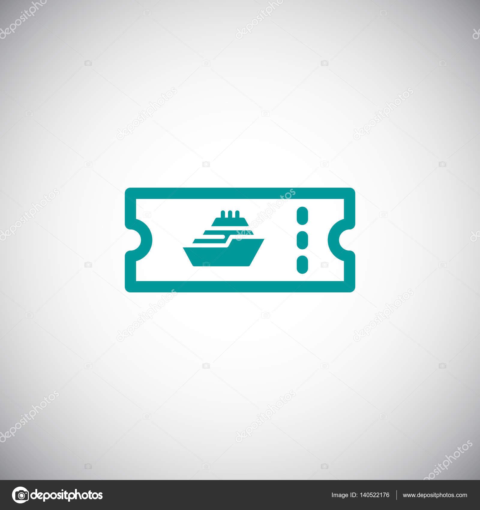 Kreuzfahrt-Schiff-Ticket-Symbol — Stockvektor © Mr.Webicon #140522176