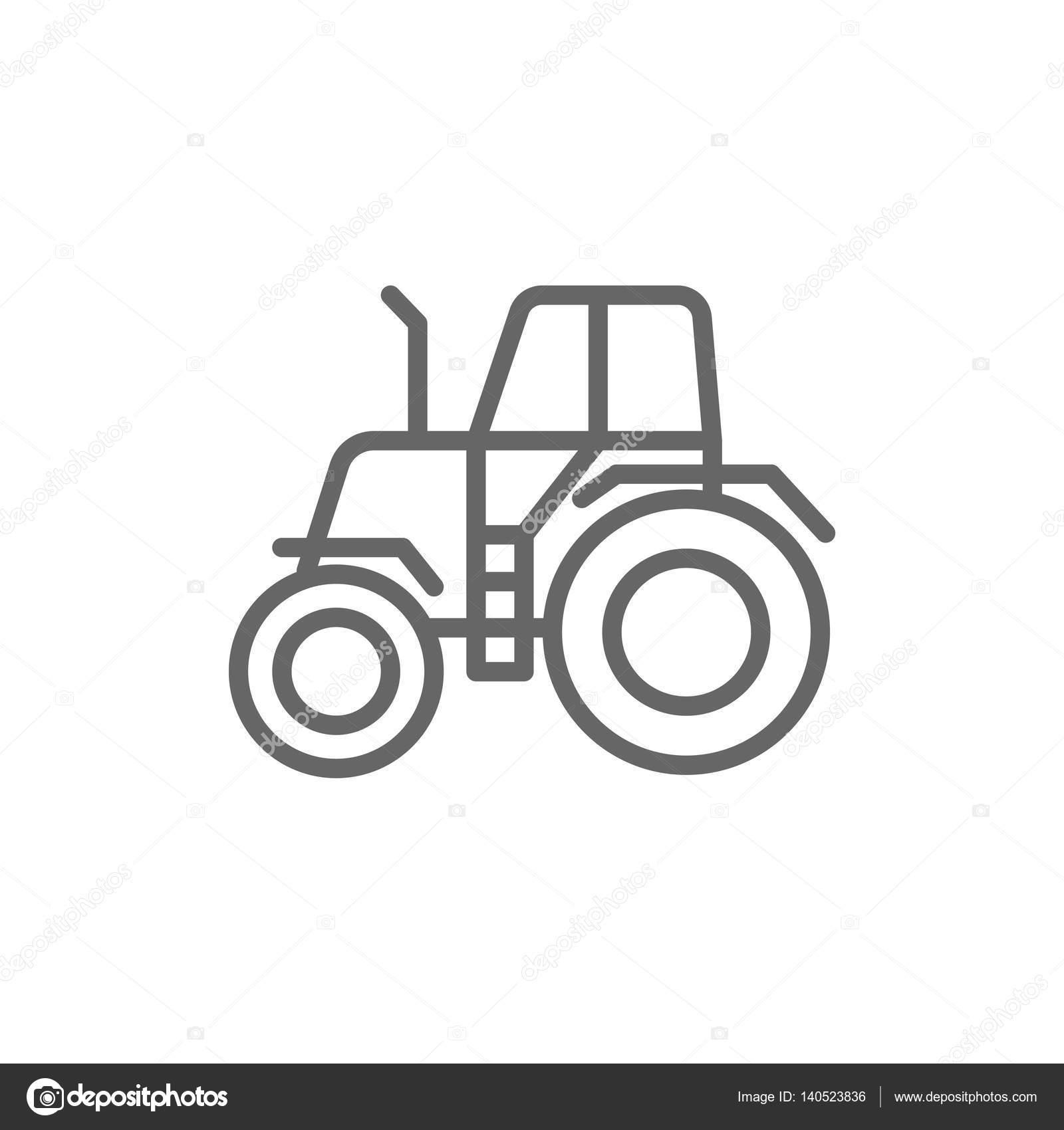 Einfaches Symbol Traktor — Stockvektor © Mr.Webicon #140523836