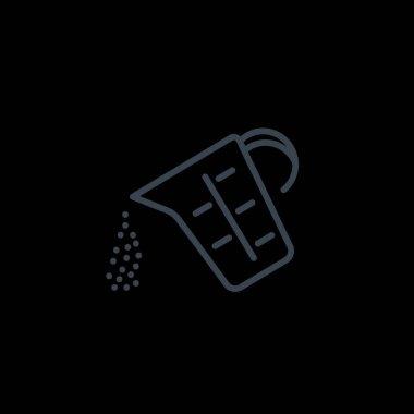 measuring cup simple icon