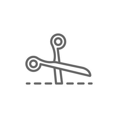 scissors cutting icon