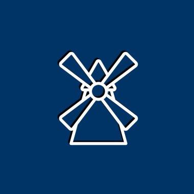 Windmill building icon