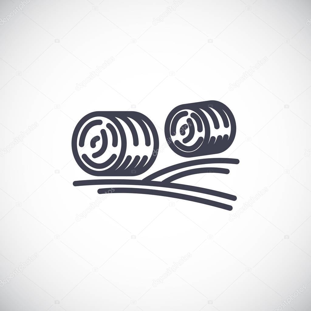 Hay rolls icon