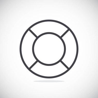 Vector illustration of help Lifebuoy icon stock vector