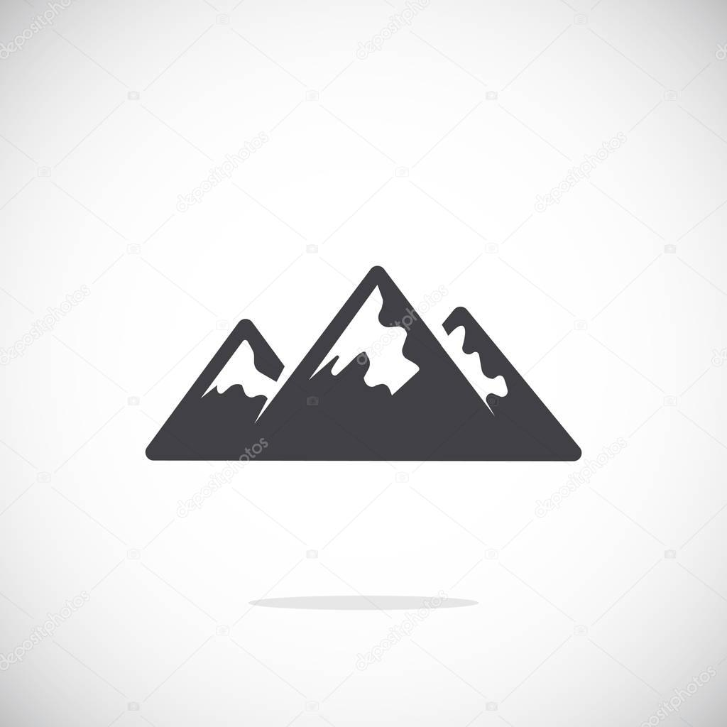mountains icon illustration