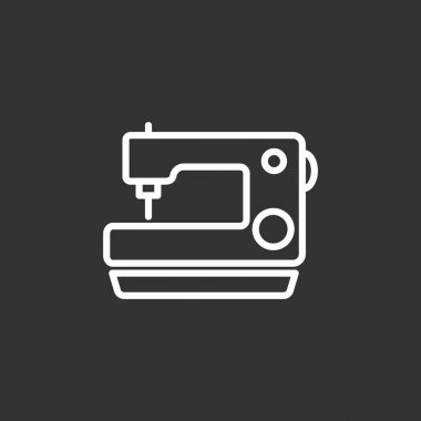 Vector illustration of Sewing machine icon stock vector