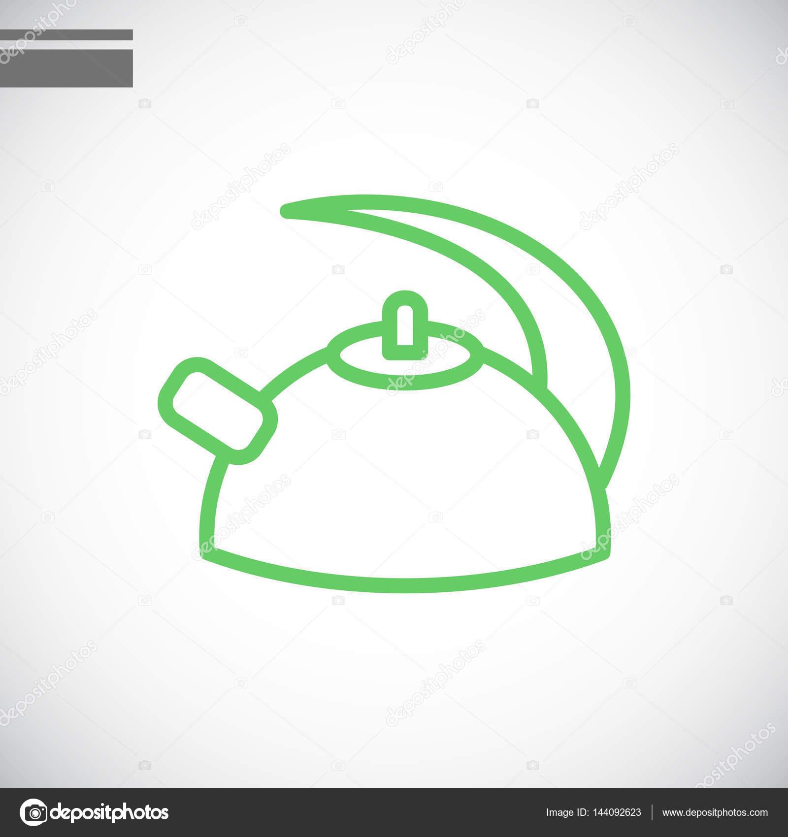 Icono plano de caldera — Vector de stock © Mr.Webicon #144092623