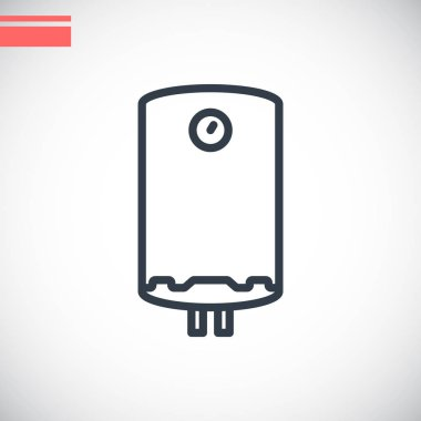 Vector illustration of boiler flat icon clip art vector