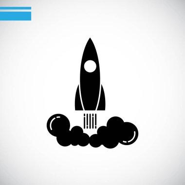 Flying rocket  logo