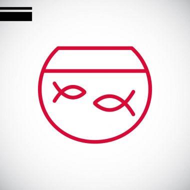 fish in aquarium icon