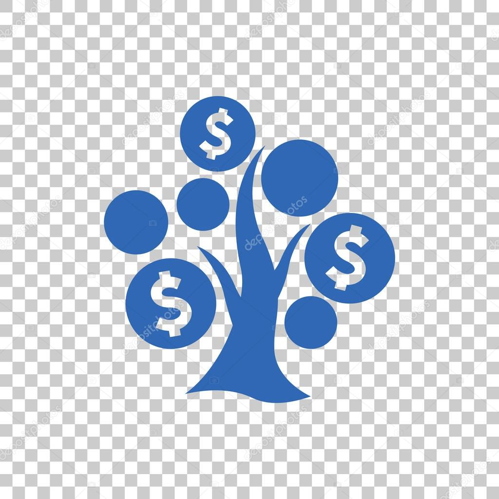 Money tree flat icon