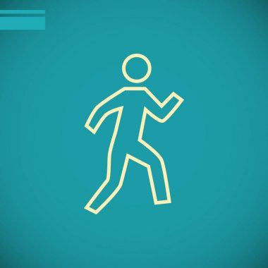 Running person  flat icon