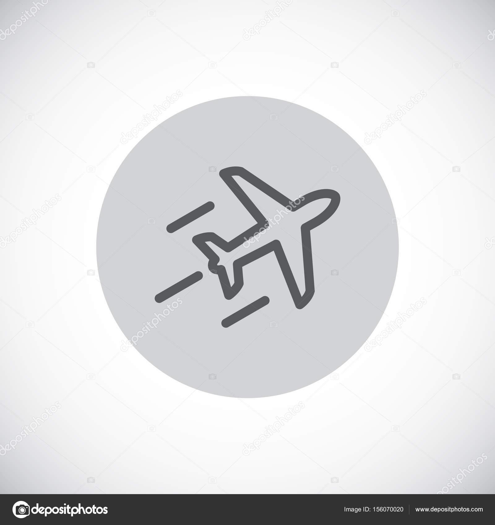 Icono de avión vuelo — Vector de stock © Mr.Webicon #156070020