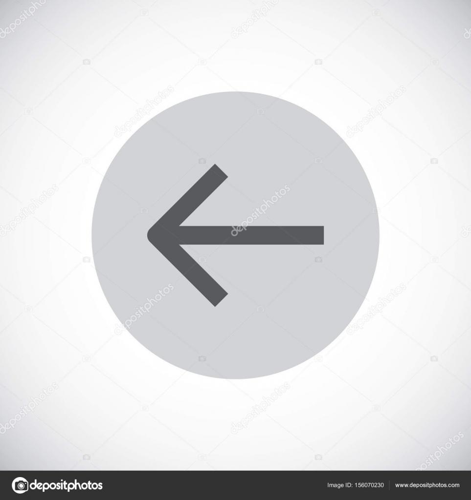 Left Side Arrow Icon Stock Vector Mrwebicon 156070230