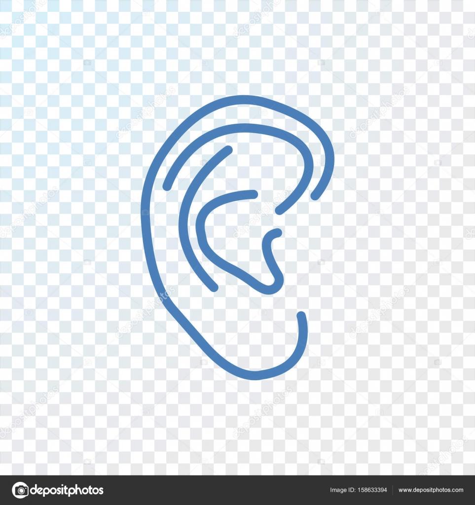 Menschliche Ohr-Symbol — Stockvektor © Mr.Webicon #158633394
