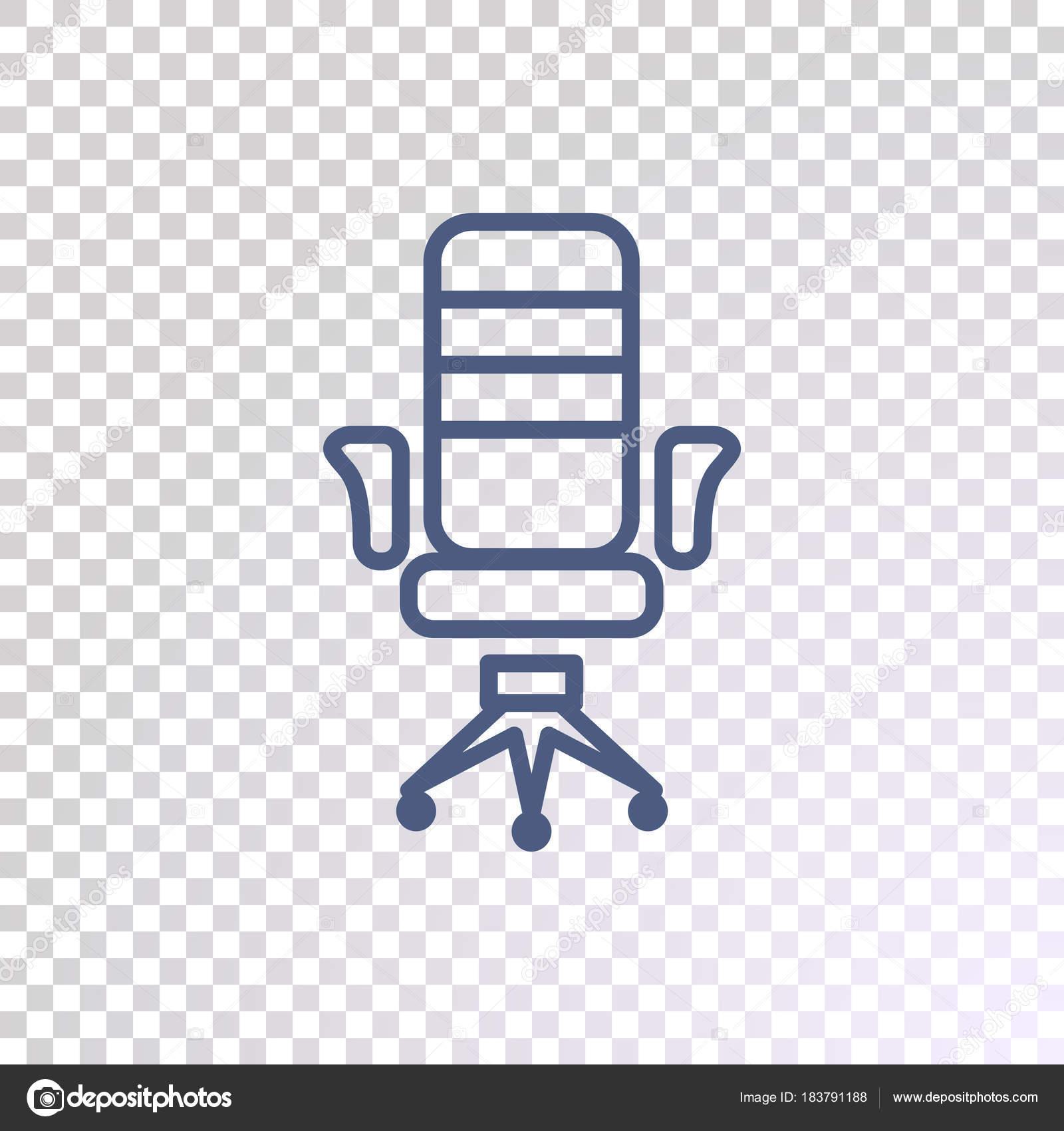 Icone Chaise Bureau Sur Fond Transparent Image Vectorielle