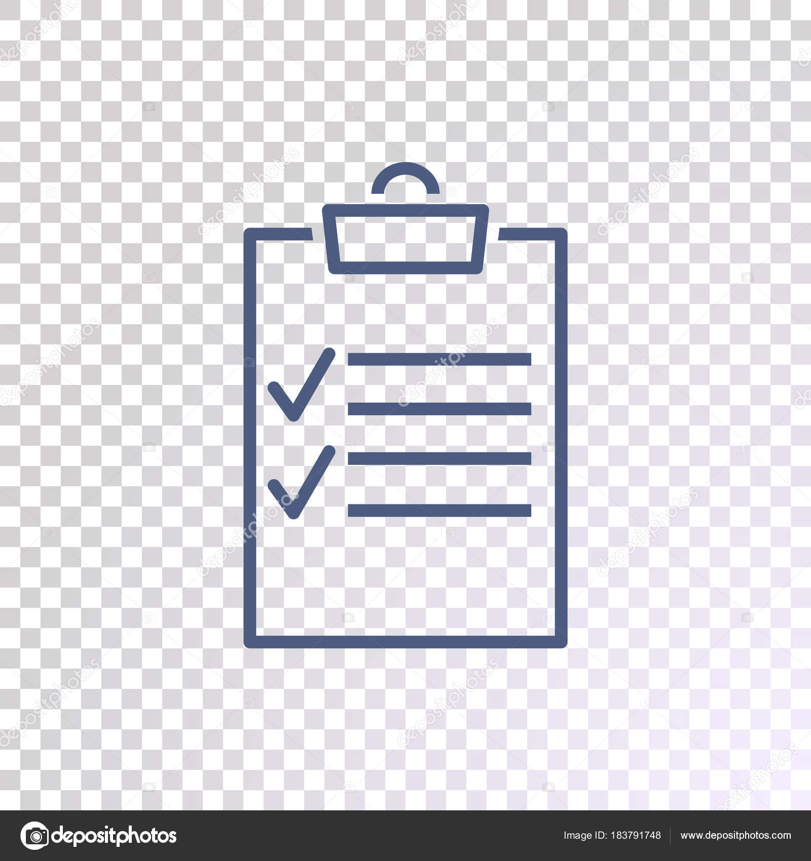 checklist icon transparent background — stock vector © mr.webicon