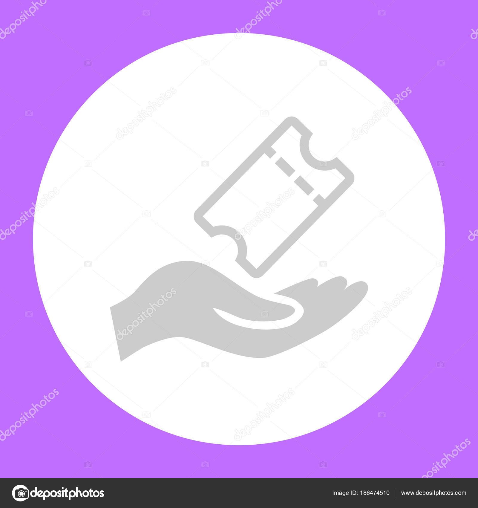 Human Hand Ticket White Circle...