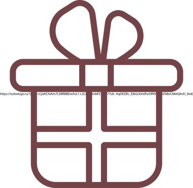 Gift box simple icon