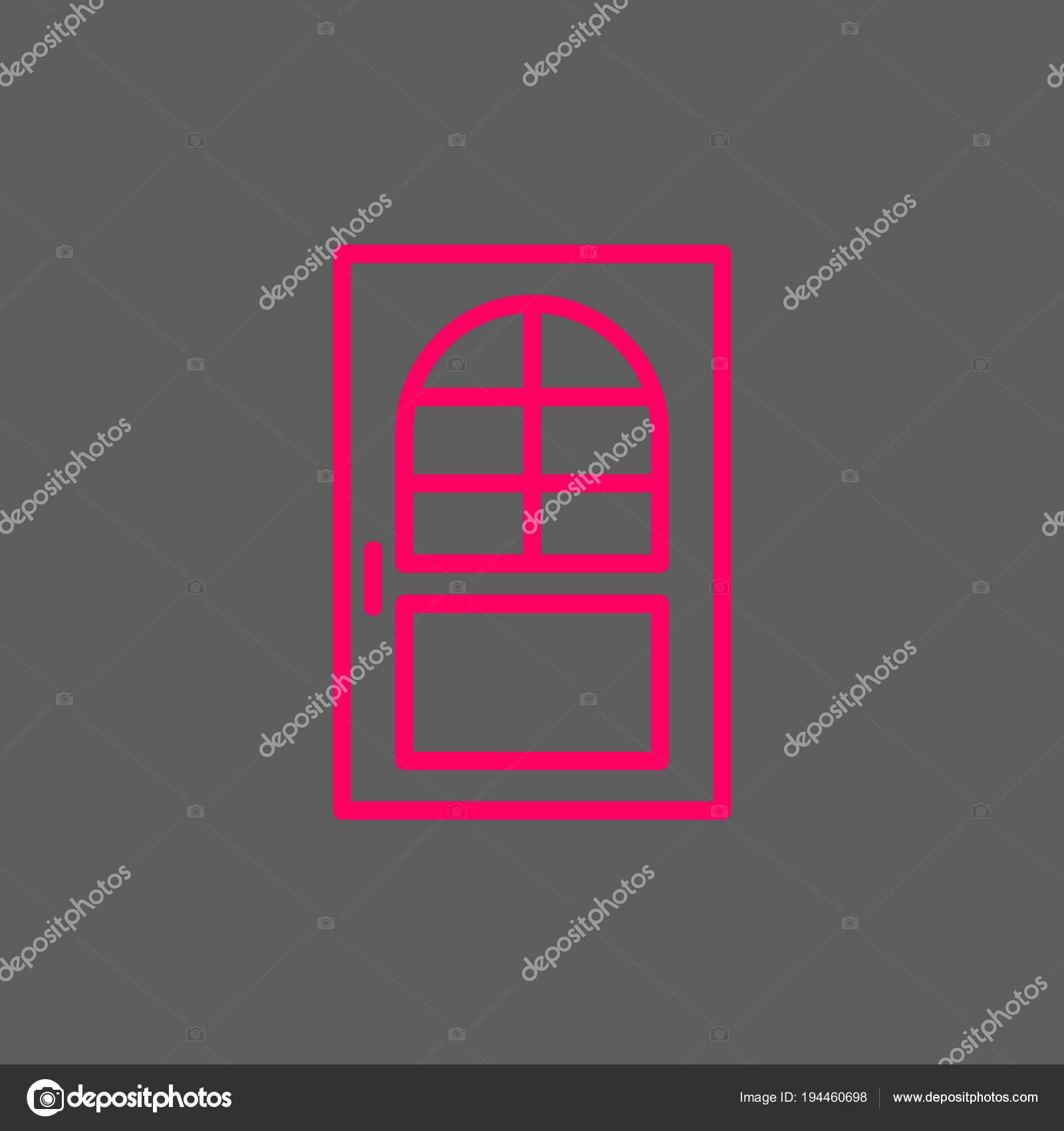 tür farbe web symbol vektor illustration — stockvektor © mr.webicon
