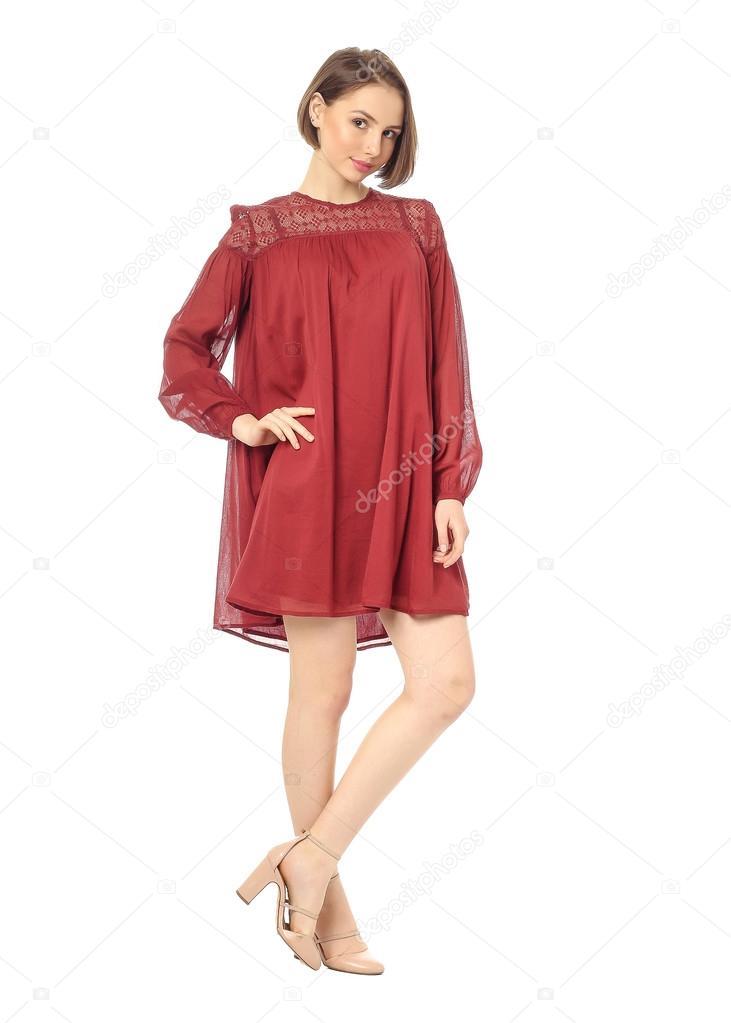 Vestidos rojos con blanco cortos