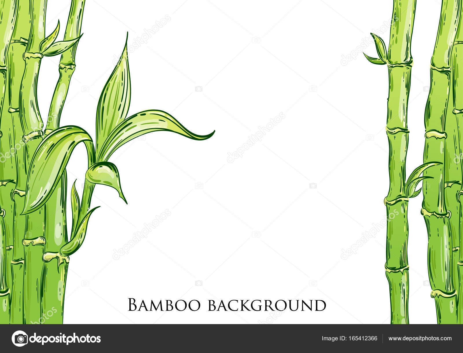 Abstrakte Vektorgrafik Mit Bambus Stockvektor C Tyhinka 165412366