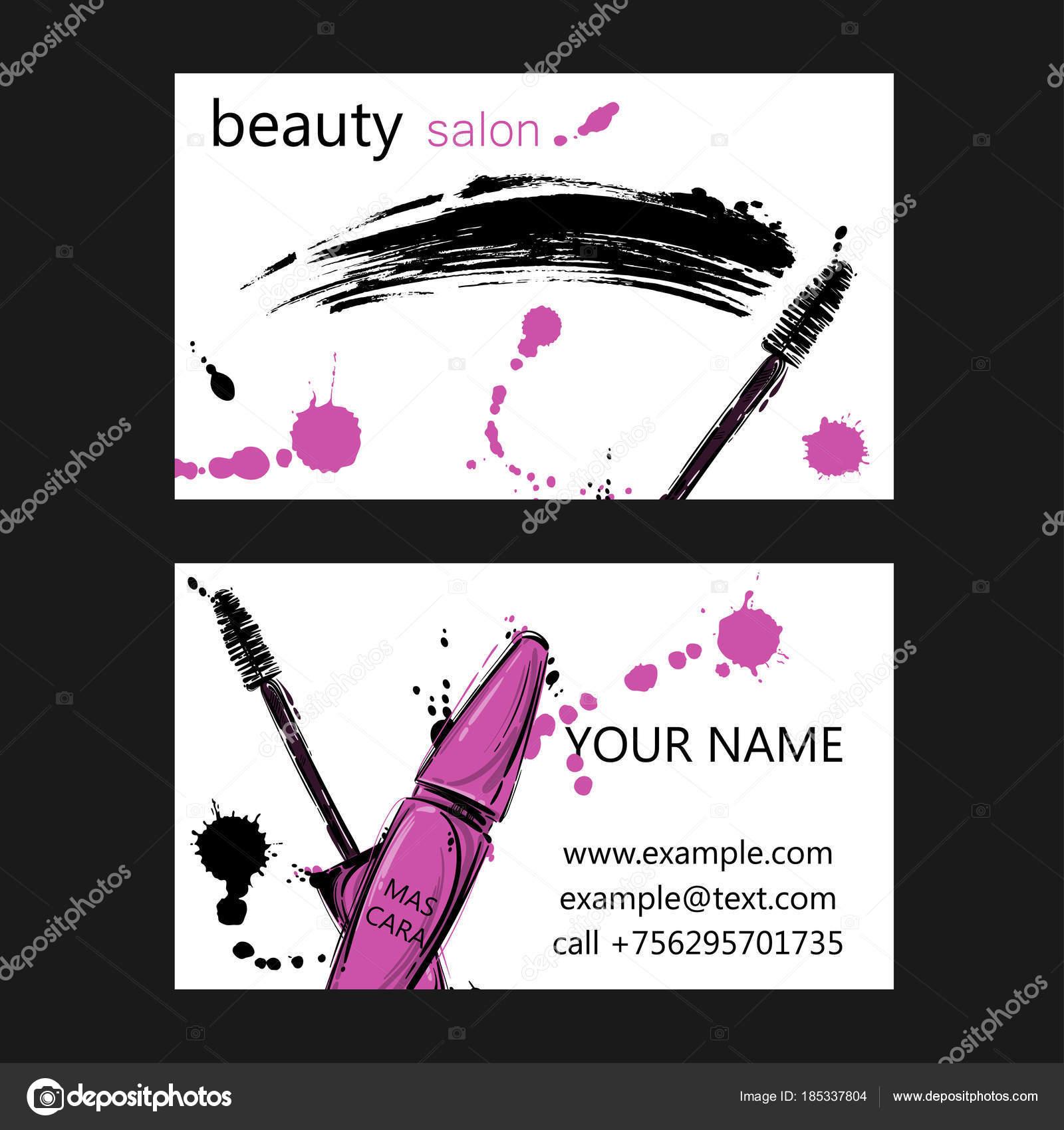 Business card of beauty salon. — Stock Vector © Tyhinka #185337804