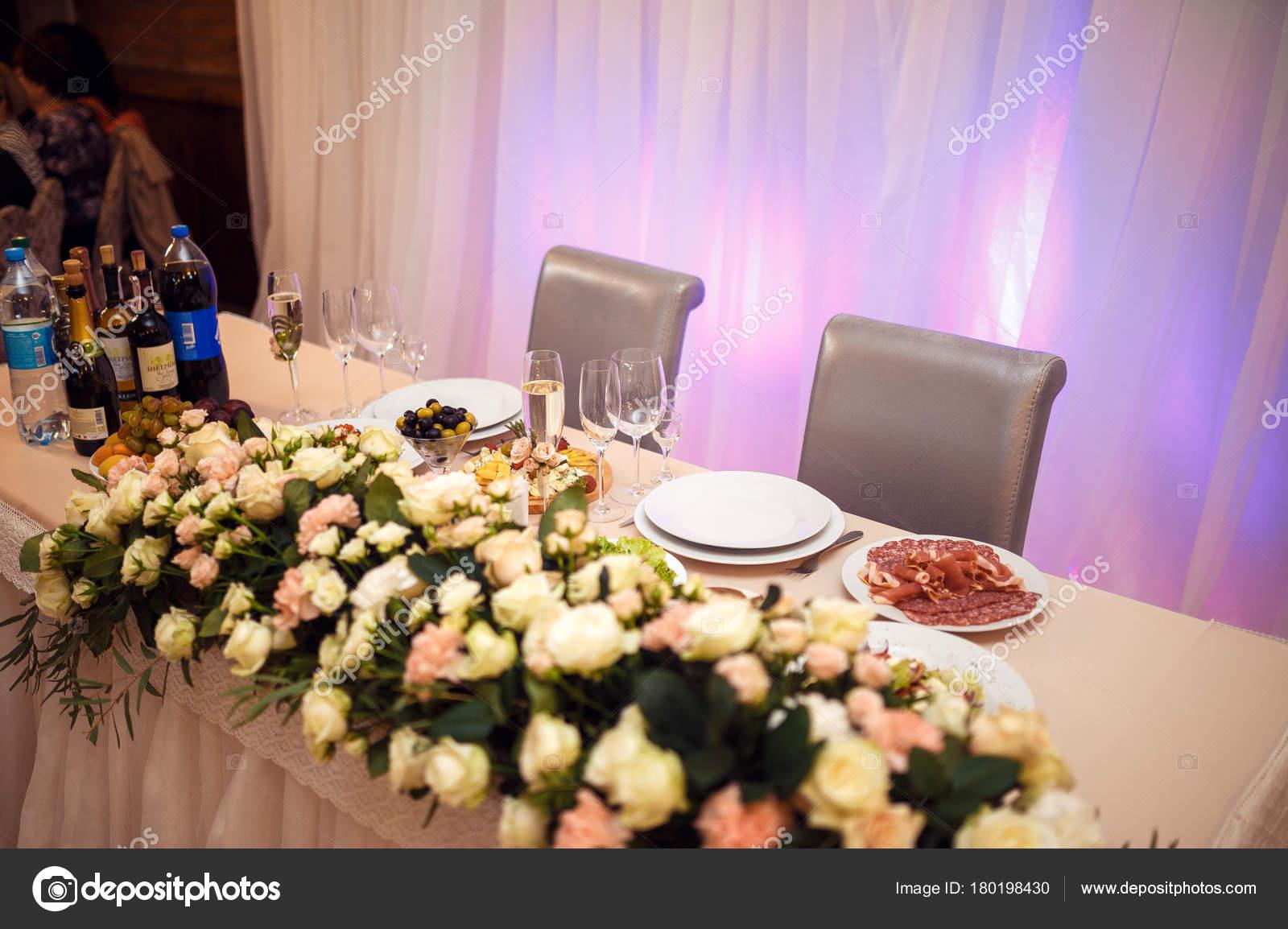 Beautiful Table Setting Crockery Flowers Party Wedding Reception