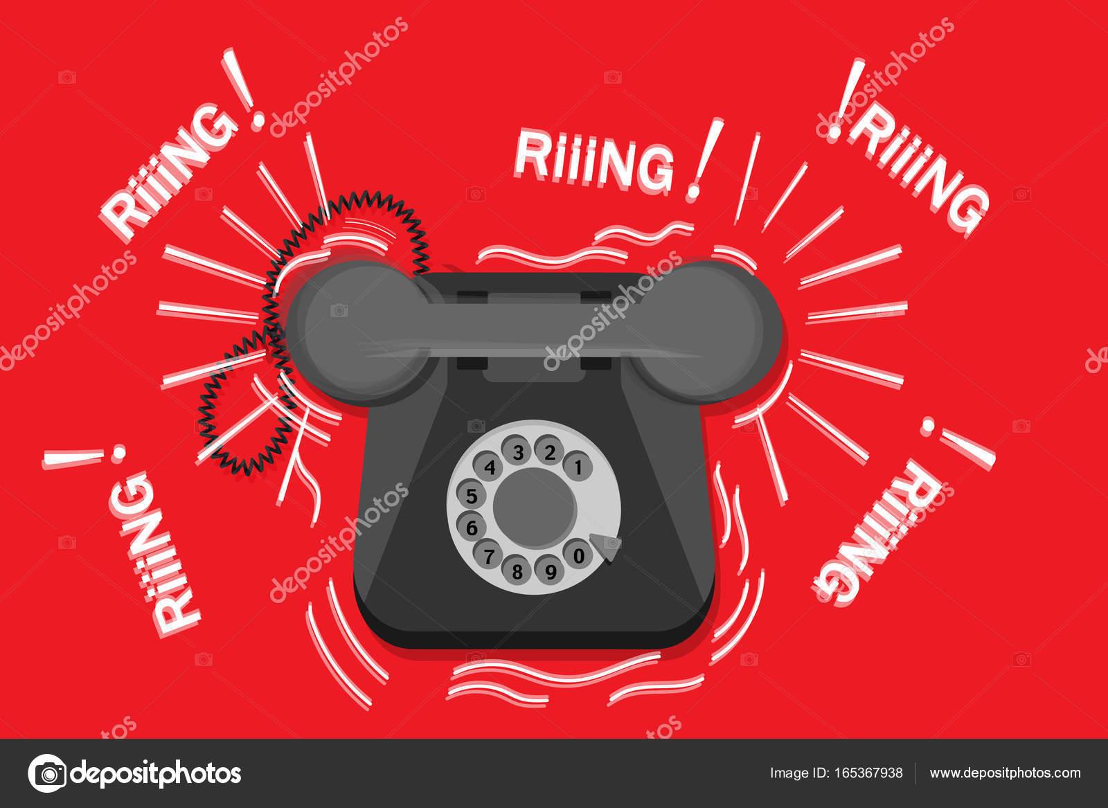 Старый телефон и звонок стоковое фото. Изображение насчитывающей.