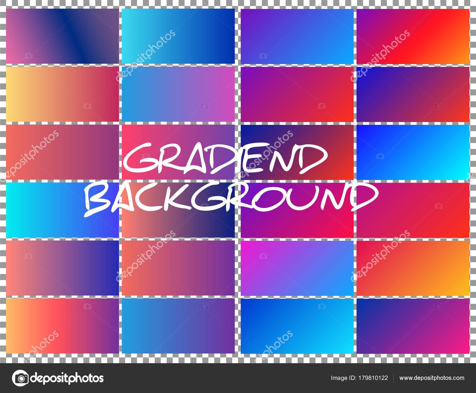 Conjunto Fondo Color Suave Gradientes Color Suave Moderno — Vector ...