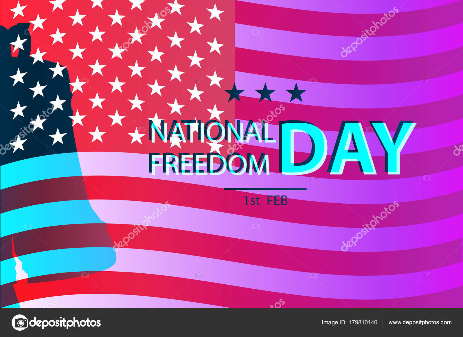 1st february national freedom day illustration liberty bell symbol 1st february national freedom day illustration with a liberty bell as a symbol of freedom posters template american flag as background vector by jeler biocorpaavc Images