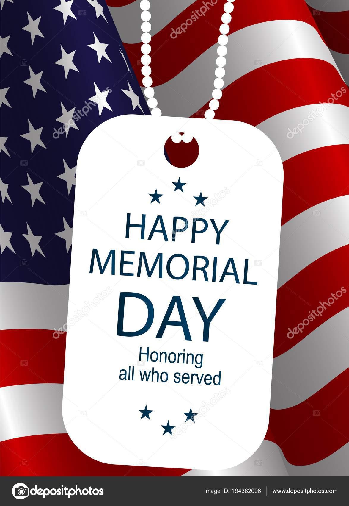 Insignia Soldados Fondo Bandera Estados Unidos Feliz Día Carteles ...