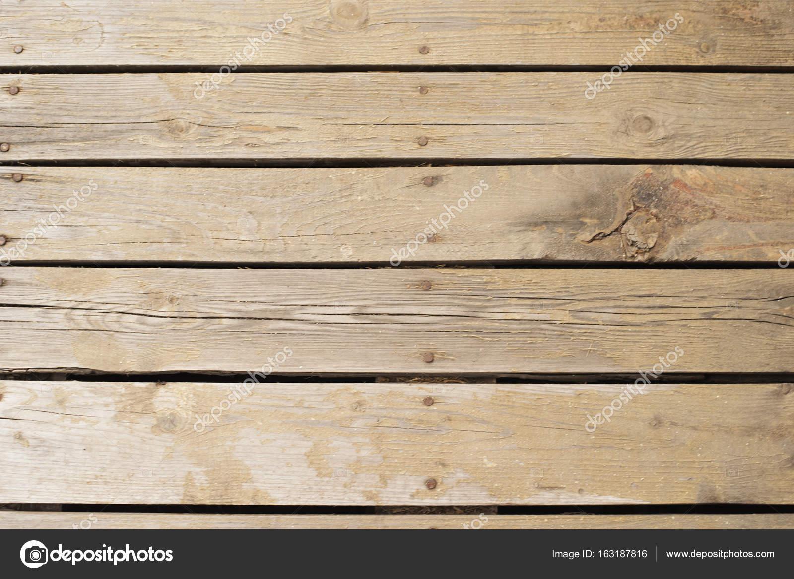 Echte houten vloer zet samen met nagels de manier waarop die we