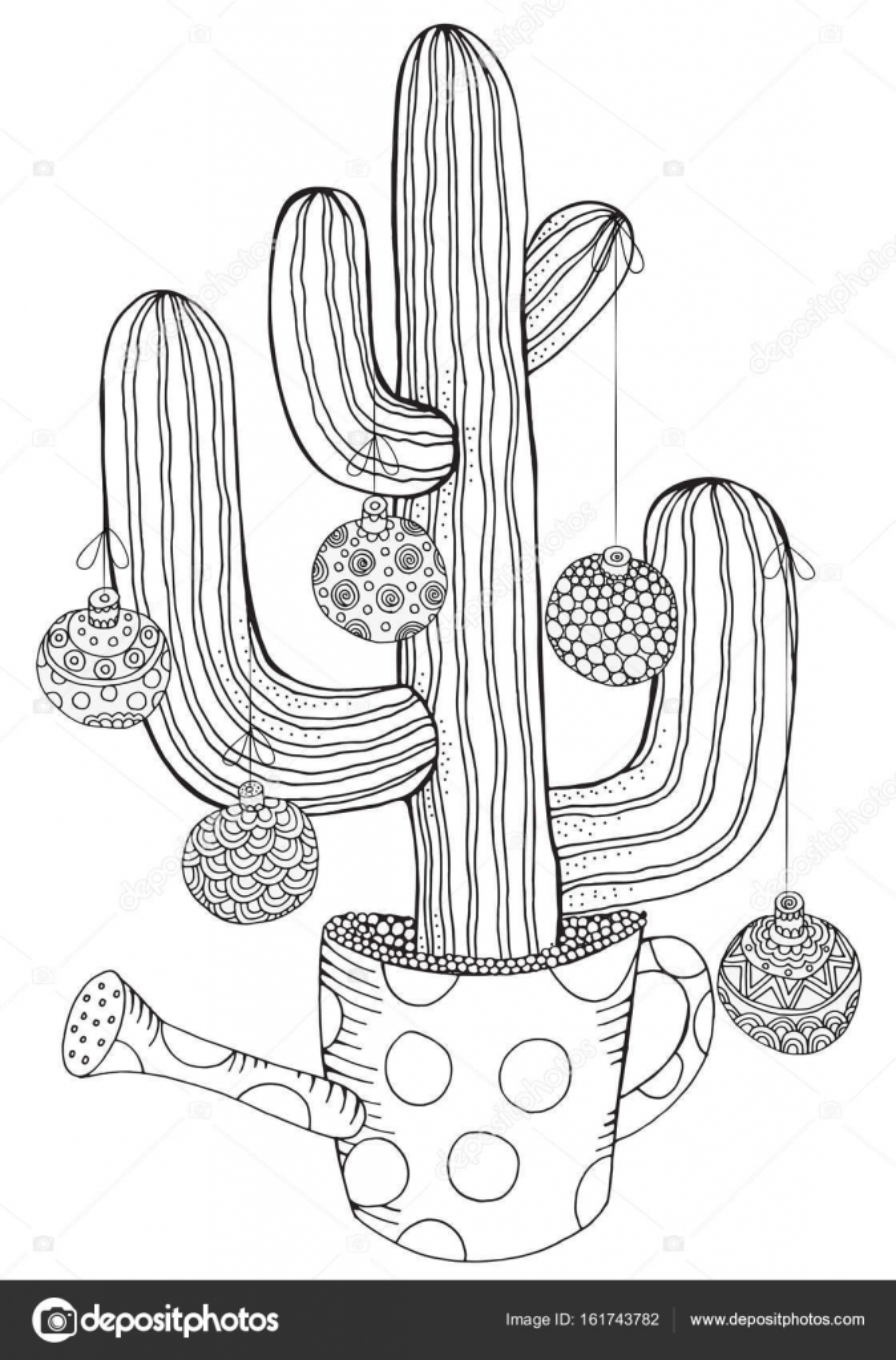 Hand gezeichnet Kaktus im Topf — Stockvektor © imhope.yandex.ru ...